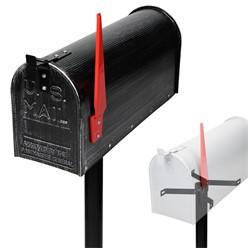 ML-Design US Mailbox mit schwenkbarer Fahne und Standfuß, retro-schwarz, aus Aluminium