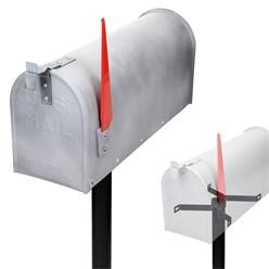 ML-Design US Mailbox mit schwenkbarer Fahne und Standfuß, beton-optik, aus Aluminium