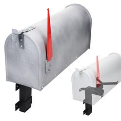 ML-Design US Mailbox mit aufrichtbarer Fahne und Wandhalterung, beton-optik, aus Aluminium