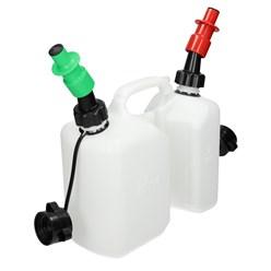 Kombikanister Benzin 3L und Öl 1,5L mit Sicherheitseinfüller 2 Stuck