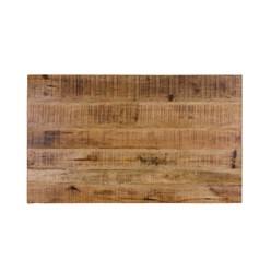 WOMO-DESIGN Couchtisch natur, 100x60x47 cm, aus Stahl und Mangoholz