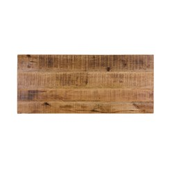 WOMO-DESIGN Konsolentisch Mangoholz massiv mit Stahlfüßen