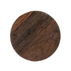WOMO-DESIGN Beistelltisch schwarz mit Altholzplatte massiv