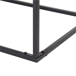 WOMO-DESIGN Couchtisch grau, 120x60x46 cm, aus Metall und Mangoholz