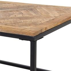 WOMO-DESIGN Couchtisch natur, 120x60x46 cm, aus Metall und Mangoholz