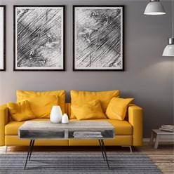 WOMO-DESIGN Retro-Couchtisch Grau Mangoholz massiv