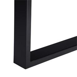 WOMO-DESIGN Couchtisch natur/schwarz, 120x60 cm, aus Akazienholz mit Metallgestell