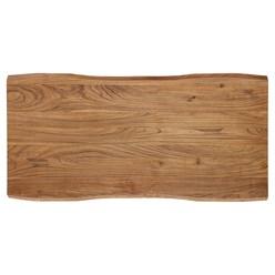 WOMO-DESIGN Couchtisch silber, 120x60 cm, aus Akazienholz mit Metallgestell