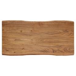WOMO-DESIGN Couchtisch schwarz, 120x60 cm, aus Akazienholz mit Metallgestell