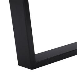 WOMO-DESIGN Couchtisch natur/schwarz, 110x70 cm, aus Akazienholz mit Metallgestell