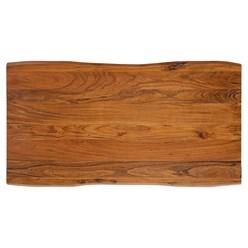 WOMO-DESIGN Couchtisch natur/silber, 110x60 cm, aus Akazienholz mit Metallgestell