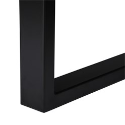WOMO-DESIGN Couchtisch natur/schwarz, 110x60 cm, aus Akazienholz mit Metallgestell