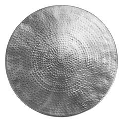 WOMO-DESIGN Couchtisch, Ø 60x30.5 cm, Silber, aus Aluminium-Legierung in Hammerschlag-Technik