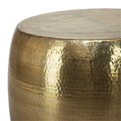 WOMO-DESIGN Couchtisch, Ø 53x41 cm, Gold, aus Aluminium-Legierung in Hammerschlag-Technik