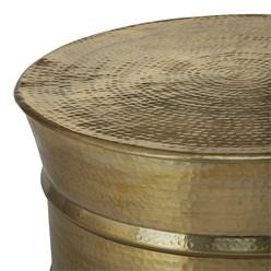 WOMO-DESIGN Couchtisch, Ø 62x33 cm, Gold, aus Aluminium-Legierung in Hammerschlag-Technik