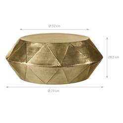 WOMO-DESIGN Couchtisch, Ø 73x28.5 cm, Gold, aus Aluminium-Legierung in Hammerschlag-Technik