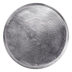 WOMO-DESIGN Couchtisch, Ø 80x30 cm, Silber, aus Aluminium-Legierung in Hammerschlag-Technik