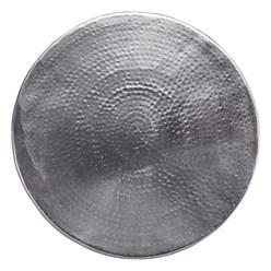 WOMO-DESIGN Couchtisch, Ø 60x37 cm, Silber, aus Aluminium-Legierung in Hammerschlag-Technik