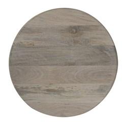 WOMO-DESIGN 2er Set Runder Beistelltisch grau, Ø35 / Ø45 cm, aus massives Mangoholz