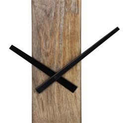 WOMO-DESIGN Wanduhr rund, Ø 76 cm, schwarz/natur, aus Eisen und Mangoholz