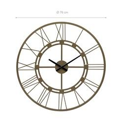 WOMO-DESIGN Wanduhr rund, Ø 76 x 5 cm, Altgold, aus Eisen