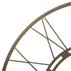 WOMO-DESIGN Wanduhr rund, Ø 92 x 5 cm, Altgold, aus Eisen