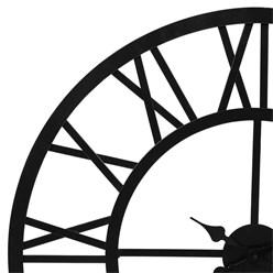 WOMO-DESIGN Wanduhr rund, Ø 76 x 5 cm, schwarz, aus Eisen