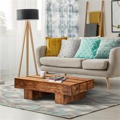 Mesa de centro WOMO-DESIGN marrón, 100x45x30 cm, madera de acacia maciza