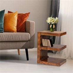 WOMO-DESIGN Beistelltisch braun, 45x30x60 cm, aus massives Akazienholz