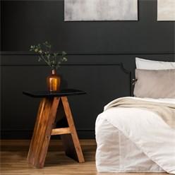 WOMO-DESIGN Beistelltisch A-Form braun, 45x30x60 cm, aus massives Akazienholz