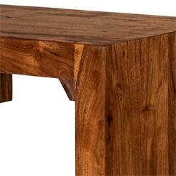 WOMO-DESIGN Beistelltisch C-Form braun, 45x30x60 cm, aus massives Akazienholz