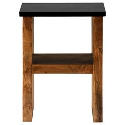 WOMO-DESIGN Beistelltisch H-Form braun, 45x30x60 cm, aus massives Akazienholz