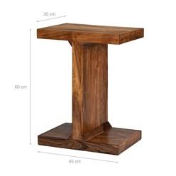 WOMO-DESIGN Beistelltisch I-Form braun, 45x30x60 cm, aus massives Akazienholz