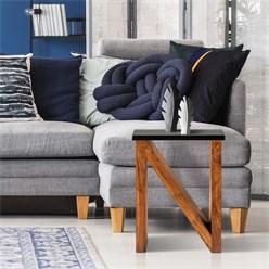 WOMO-DESIGN Beistelltisch N-Form braun, 45x30x60 cm, aus massives Akazienholz