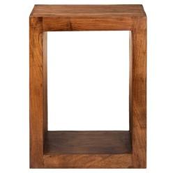 WOMO-DESIGN Beistelltisch O-Form braun, 45x30x60 cm, aus massives Akazienholz