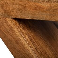 WOMO-DESIGN Beistelltisch R-Form braun, 45x30x60 cm, aus massives Akazienholz
