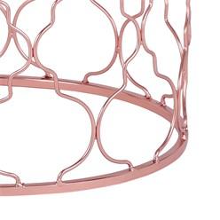 WOMO-DESIGN 2er Set Beistelltisch weiß, Ø 40/45 cm, aus Metall und Marmor