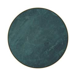 WOMO-DESIGN 2er Set Beistelltisch grün, Ø40x45 / Ø45x50 cm, aus Metall und Marmor