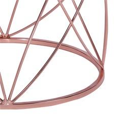 WOMO-DESIGN 2er Set Beistelltisch, kupfer, Ø 40x45/45x55 cm, aus Metall und Spiegelglas