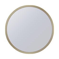 WOMO-DESIGN 2er Set Beistelltisch, gold, Ø 40x45/45x55 cm, rund, aus Metallbeschichtung und Spiegelglas