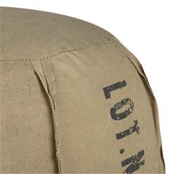 WOMO-DESIGN Runder Sitzhocker sand, Ø 40x40 cm, aus Segeltuch mit Baumwolle Füllung
