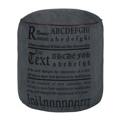 WOMO-DESIGN Runder Sitzhocker anthrazit, Ø 42x42 cm, aus Segeltuch mit Baumwolle Füllung