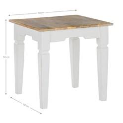 WOMO-DESIGN Beistelltisch Quadratisch natur/weiß, 50x50x50 cm, aus Mangoholz