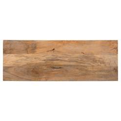 WOMO-DESIGN Sitzbank natur/weiß, 100x35x45 cm, aus Mangoholz