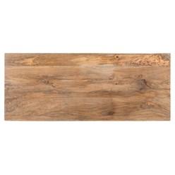 WOMO-DESIGN TV Lowboard natur/weiß, 110x35x57 cm, mit Schublade und Schrank, aus Mangoholz