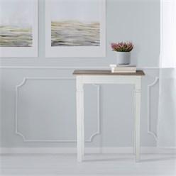 WOMO-DESIGN Konsolentisch natur/weiß, 60x35x80 cm, aus Mangoholz
