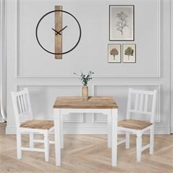 WOMO-DESIGN Esstisch natur/weiß, 80x80x76 cm, aus Mangoholz