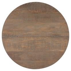 WOMO-DESIGN Couchtisch mit Stauraum, braun, Ø 70x46 cm, aus Mangoholz