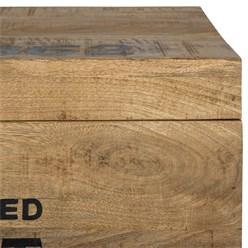 WOMO-DESIGN Couchtisch mit Stauraum, natur, 70x44x45 cm, aus Akazienholz