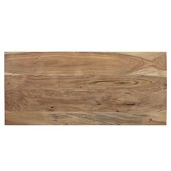 WOMO-DESIGN TV Lowboard mit 2 Schubladen, 110x50x40 cm, aus Akazien- und Schwellenholz mit Metallbeine